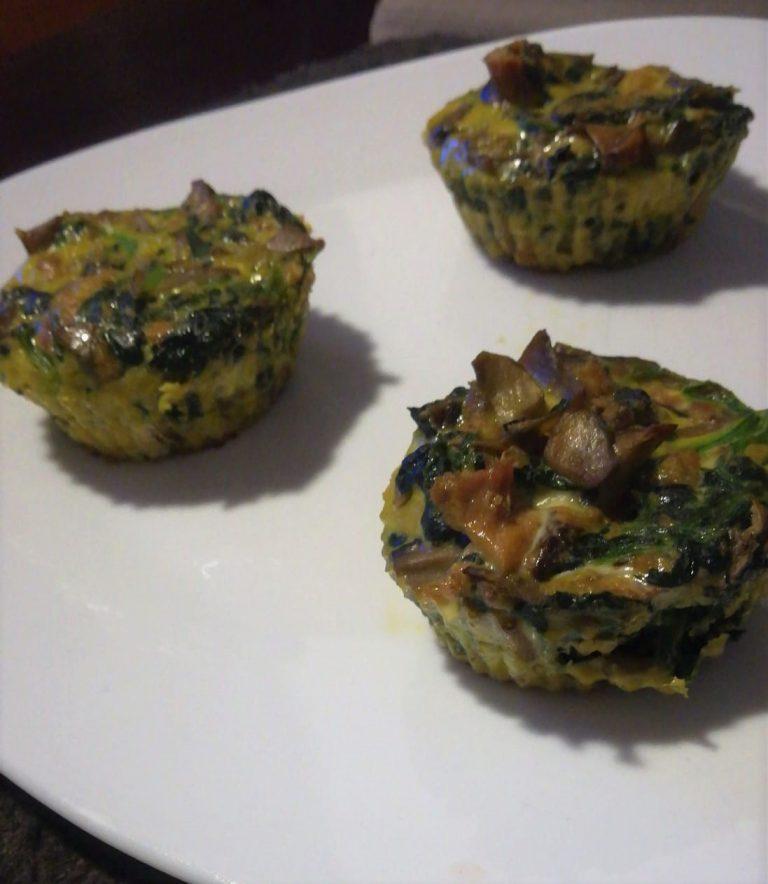 Muffins de verdura y huevo